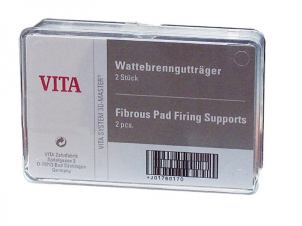 Fibrous pad firing support